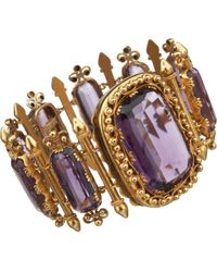 Olivia Collings - Yellow Amethyst Ornate Bracelet - Lyst