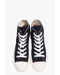 Comme des Garçons | Hightop Black Canvas Converse Sneakers | Lyst