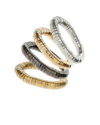 TOPSHOP - Metallic Cap Bracelet Multipack - Lyst