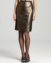 Tory Burch | Metallic Brandy Skirt | Lyst