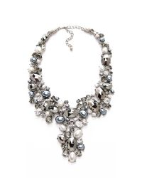 Kenneth Jay Lane | Black Crystal Bib Necklace | Lyst
