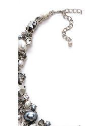 Kenneth Jay Lane - Black Crystal Bib Necklace - Lyst