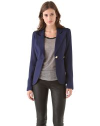 Smythe | Blue One Button Blazer | Lyst