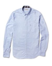 Burberry Brit | Blue Button Down Collar Cotton Oxford Shirt for Men | Lyst