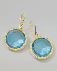 Ippolita - Metallic Rock Candy Blue Topaz Drop Earrings - Lyst