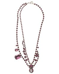 Tom Binns | Amethyst Asymmetric Crystal Necklace Purple | Lyst