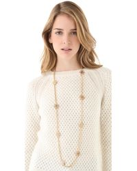 Tory Burch - Metallic Walter Rosary Necklace - Lyst