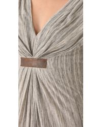 Twelfth Street Cynthia Vincent | Gray Gathered Empire Dress | Lyst