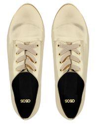 ASOS - Moment Metallic Flat Shoes - Lyst
