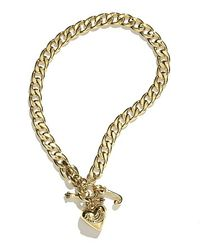 Juicy Couture | Metallic Starter Charm Necklace | Lyst