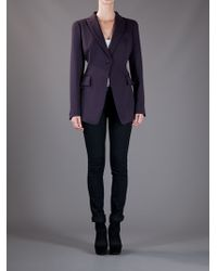 Alexander McQueen   Purple Fitted Blazer   Lyst