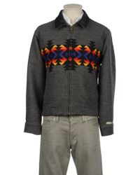 Pendleton | Gray Bomber Jacket for Men | Lyst