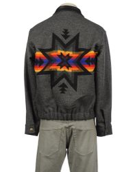 Pendleton - Gray Bomber Jacket for Men - Lyst