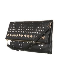 TOPSHOP - Black Studded Clutch - Lyst