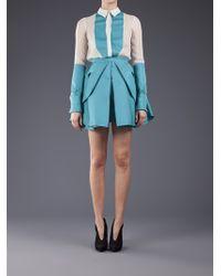 Antonio Berardi   Blue Pleated Skirt   Lyst