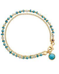 Astley Clarke | Blue Biography Be Very Cool 18Ct Gold Vermeil Friendship Bracelet | Lyst