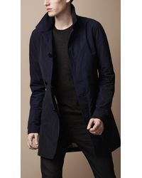Burberry Brit - Blue Single Breasted Trench Coat for Men - Lyst