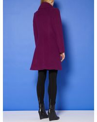 Pied a Terre | Purple Ruffle Front Coat | Lyst