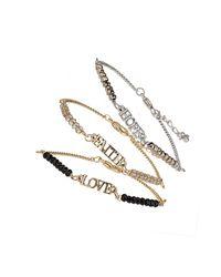 TOPSHOP - Multicolor Love Hope Faith Bracelet Pack - Lyst
