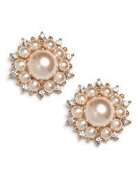 BaubleBar | White Flower Pearl Studs | Lyst