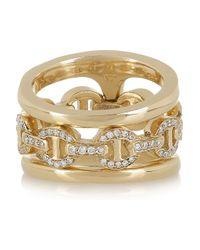 Hoorsenbuhs - Metallic Phantom 18karat Gold and Diamond Double Ring - Lyst