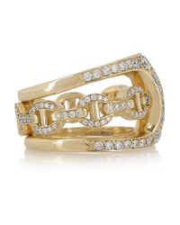 Hoorsenbuhs - Metallic Phantom 18karat Gold and Diamond Double Ring - Lyst