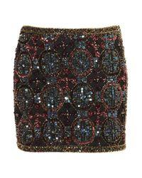 Topshop   Multicolor Premium Embellished Skirt   Lyst