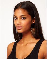 ASOS - Black Xl Spot Triangle Doorknocker Earrings - Lyst
