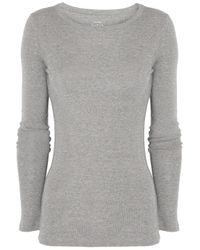 J.Crew | Gray Cottonjersey Top | Lyst