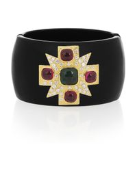 Kenneth Jay Lane | Metallic Maltese Cross 18karat Goldplated Cubic Zirconia Cuff | Lyst