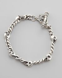 King Baby Studio | Metallic Skull Chain Bracelet for Men | Lyst