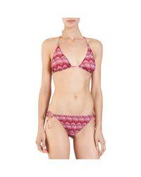 Missoni | Red Zig Zag Reversible Bikini | Lyst