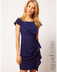 ASOS Blue Tulip Dress with Drape Side