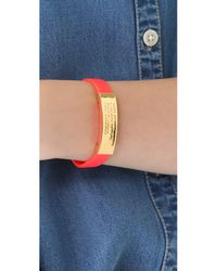 Marc By Marc Jacobs - Orange Standard Supply Id Bracelet - Lyst