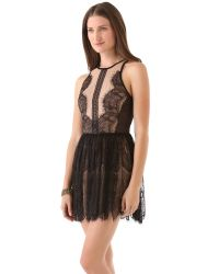 Three Floor | Black Lace Up Dress | Lyst