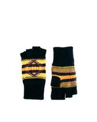 ASOS - Black Asos Fingerless Gloves with Aztec Design for Men - Lyst