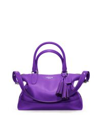 COACH | Purple Legacy Leather Molly Satchel | Lyst