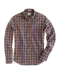 J.Crew - Brown Thomas Mason Archive For Jcrew Slim Shirt in Plaid for Men - Lyst