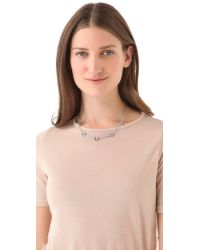Marc By Marc Jacobs - Metallic Pave Bolt Necklace - Lyst
