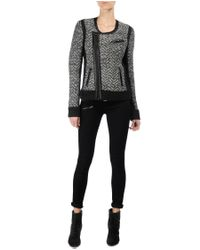 Rag & Bone | Gray Samantha Biker Jacket | Lyst