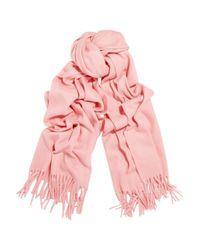 Acne Studios | Pink Canada Fringed Wool Scarf | Lyst