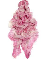 Alexander McQueen | Purple Printed Modal and Cashmereblend Scarf | Lyst