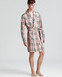Burberry | Natural Check Robe for Men | Lyst