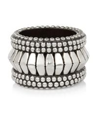 Day Birger et Mikkelsen - Metallic Studded Wooden Bangle - Lyst