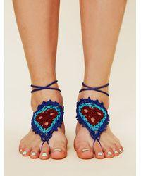 Free People - Blue Crochet Sun Foot Tie - Lyst