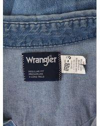 Free People   Blue Vintage Wrangler Denim Shirt   Lyst