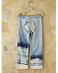 Free People | Blue Vintage Acid Wash Jeans with Tie Dye | Lyst