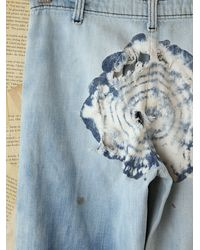 Free People | Blue Vintage Acid Wash Jeans with Tie Dye | Lyst