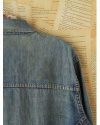 Free People | Blue Boyfriend Trucker Denim Jacket | Lyst