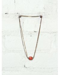 Free People | Multicolor Vintage Stone Cold Necklace | Lyst